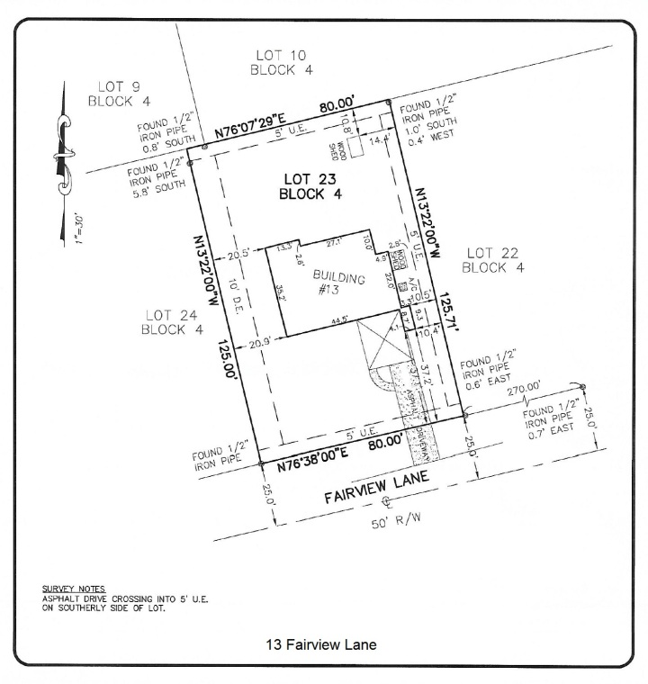13 Fairview Survey