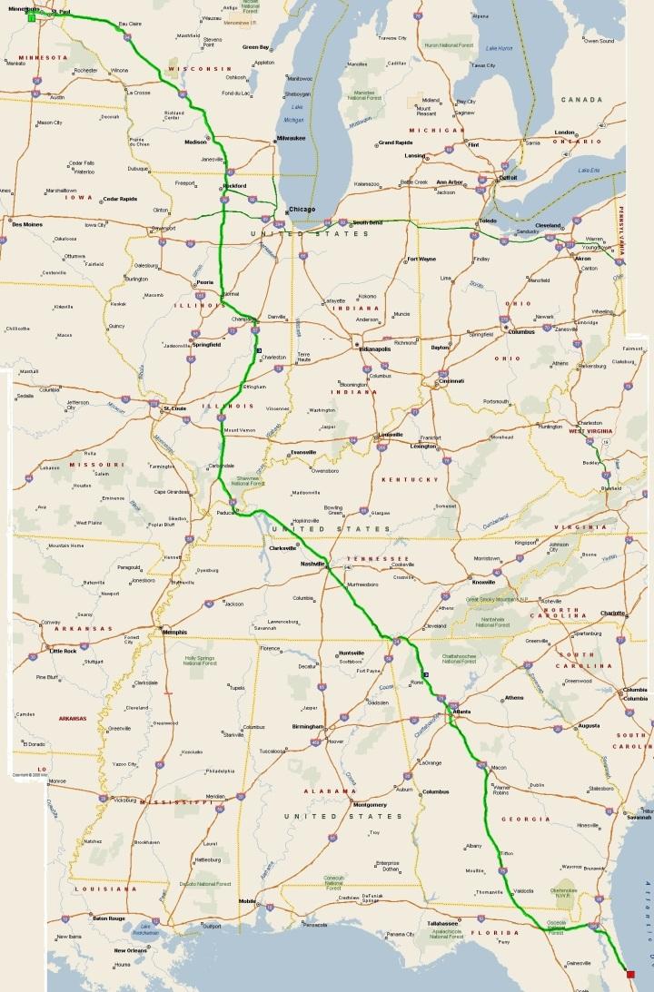 Trip down map